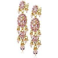 [アイシャーヤ] Isharya pink bling maharani earring: pink crystal, 14k gold plated ピアス E1197-14-610