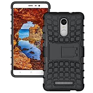 Valley Tough Hybrid Armor Back Cover Case with Kickstand Back Case Cover For Xiaomi Redmi Note 3 (Black)