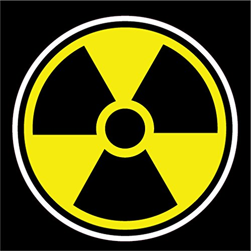 NI537 Nuclear Radiation Warning Decal | 5.5-Inches | Premium Quality Vinyl Decal (Radiation Sticker compare prices)
