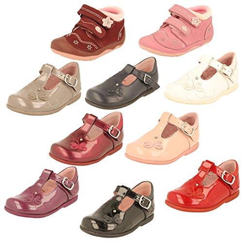 Start-rite Pixie da ragazza rosa brevetto prima Scarpa da camminata, rosso (Burgundy), 38-38.5 EU