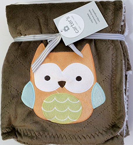 Carter's Velour Blanket, Brown Owl