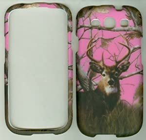 .com: Pink Buck Deer Camo Samsung Galaxy S3 S III Sgh-t999 Sgh-i747