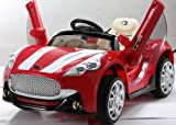NEW DESIGN MASERATI STYLE 12V RED TWIN MOTORS KIDS RIDE ON CAR WITH 4 WYAS PARENTAL REMOTE CONTROL + openable doors + mp3 input (MASERATI-RED/12V)
