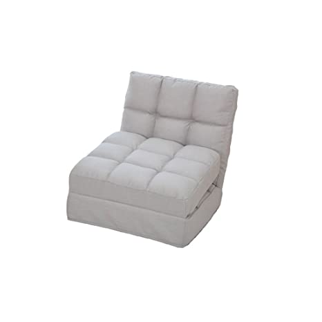 wysm Sofá perezoso 150 * 50 * 13cm sola tela flota ventanas cama creativa trasera plegable pequeño sofá silla dormitorio ( Color : Albaricoque )