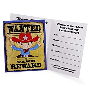Click to buy Cowboy Invitations (8) Party Suppliesfrom Amazon!