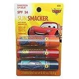 Bonnie Bell Disney Pixar Cars Sunscreen Lip Smackers Balm SPF 24 Pack of 3