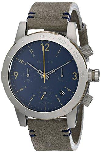 Electric Men'S Ew0020020035 Fw02 Nato Band Analog Display Japanese Quartz Grey Leather Fwatch
