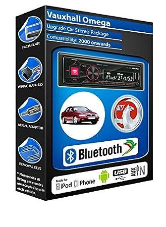 Vauxhall Omega autoradio Alpine UTE 72BT mains-libres Bluetooth pour autoradio stéréo