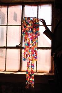 Giant Multi Colored Capiz Wind Chime
