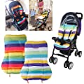 Vicky Store 1 pc Cute Waterproof Cushion Padding Liner Seat Pad Rainbow For Baby Stroller Pram Random colour by Vicky