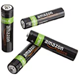 AmazonBasics - Paquete de 4 pilas recargables AAA NiMH (800 mAh)