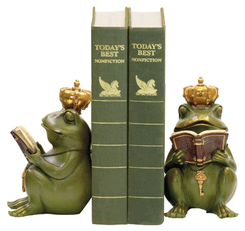 Sterling 7-8188 Composite Pair Superior Frog Gatekeeper Bookends, Green/Gold