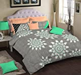 Portico New York Nishka Lulla 250 TC Cotton Bed Cover with 2 Pillow Covers - King Size, Multicolour