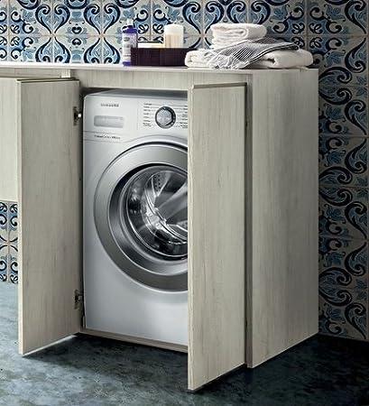 Mobile bagno copri lavatrice in 30 colori porta lavatrice
