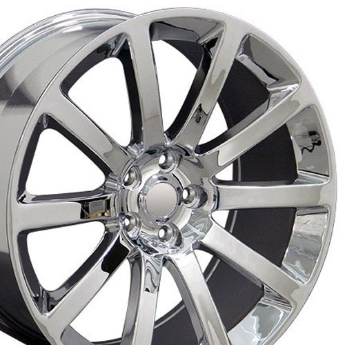 20x9 Wheel Fits Chrysler 300, Challenger, Charger - SRT Style Chrome Rim (07 300c Rims compare prices)