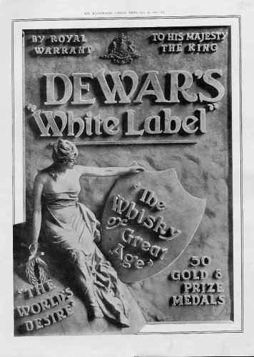 Dewars White Label Whiskey Antique Advertisment 1902
