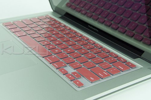 #!  Kuzy - METALLIC PINK Keyboard Cover Silicone Skin for MacBook Pro 13