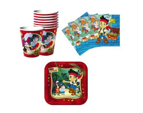 Jake and the Neverland Pirates Birthday Party Supplies Set Plates Napkins Cups Kit for 16 by Hallmark