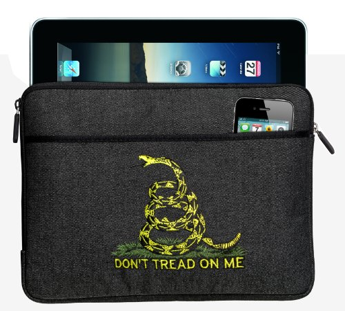 Don'T Tread On Me Ipad Sleeve Or Tablet Sleeve Tea Party Flag Best For Ipads, E-Readers, Ipad 2, Kindle, Nook, Fire