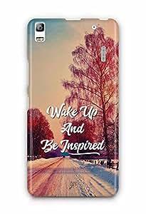 YuBingo Wake Up and Be Inspired Designer Mobile Case Back Cover for Lenovo A7000