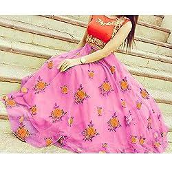 Crazy Butik women Pink Banglori lehenga Choli