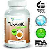 High Quality Turmeric Curcumin - 180 Veggie Capsules - 750mg - 95% Curcuminoids-with Black Pepper Extract (Piperine) - Most powerful Turmeric Supplement - by Doctor Recommended