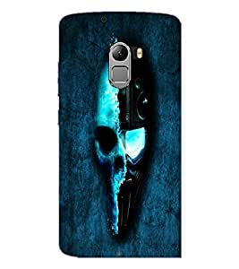 PrintDhaba Skull D-2690 Back Case Cover for LENOVO K4 NOTE A7010 (Multi-Coloured)