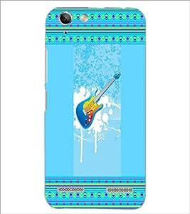 PrintDhaba Guitar D-3555 Back Case Cover for LENOVO A6020a46 (Multi-Coloured)