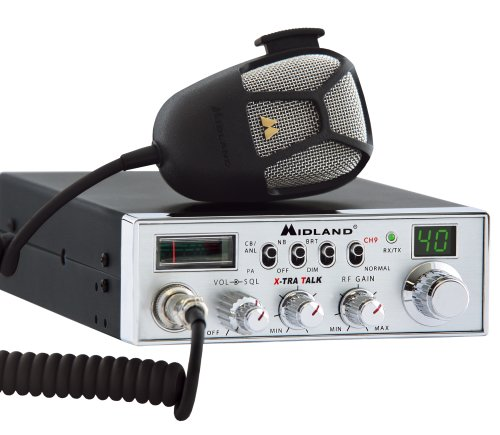 Midland 5001Z 40 Channel Mobile CB with Switchable Noise Filter, RF Gain PA and Instant Channel 9