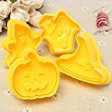 4Pcs Halloween Pumpkin Chocolate Cake Cookie Cutter Halloween Fondant Cake Decoration
