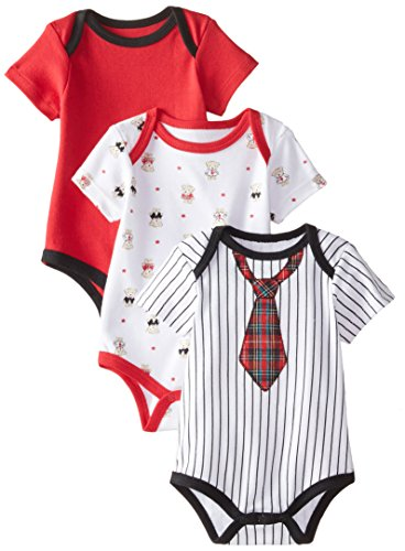 Best Beginnings Baby-Boys Newborn Bear Bodysuits, Multi, 3 Months