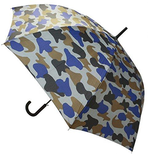【晴雨兼用】 長傘 ジャンプ傘 カモフラージュ 65cm MSL-013