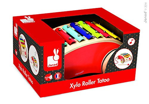 Janod Tattoo Red Xylo Roller Toy