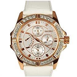 Seiko Analog White Dial Womens Watch - SRLZ92P1
