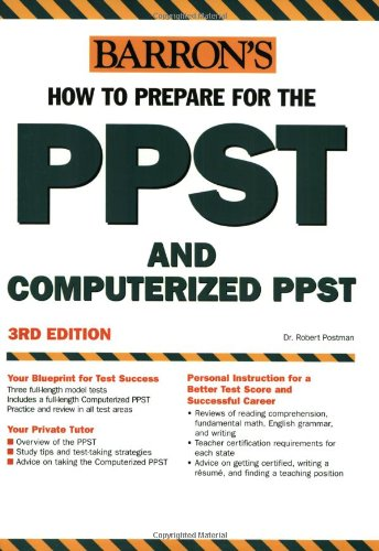 Barron's How to Prepare for the PPST and Computerized PPST