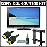Sony Bravia V-Series KDL-40V4100 40-inch 1080P LCD HDTV and Accessory Kit w/ 3 Year Warranty
