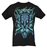 Blessthefall (Bless The Fall) Mens T-Shirt - Glowing Eyes Magical Helmet (XXX-Large) Black