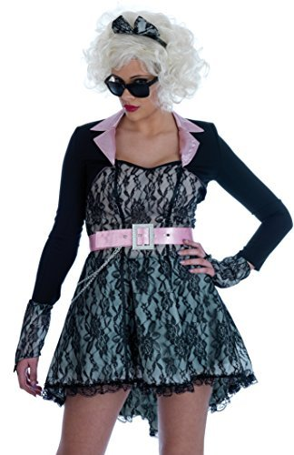 80'S Pop Starlet Madonna Fancy Dress Costume UK 8-10