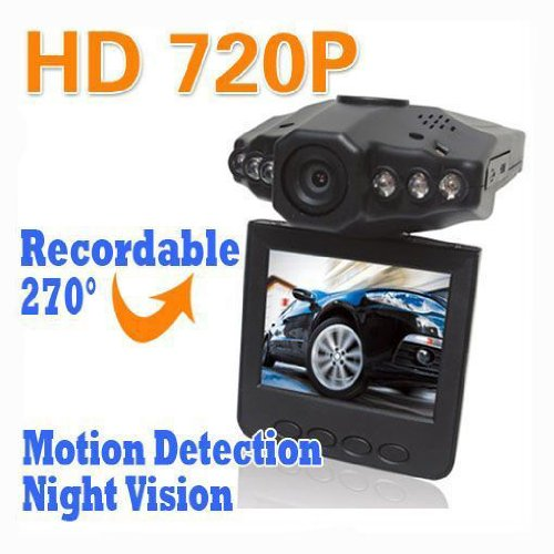 Nuoya001 New 6 Ir Led Car Vehicle Dash Cam Camera Rotable 270° Monitor Motion Detector