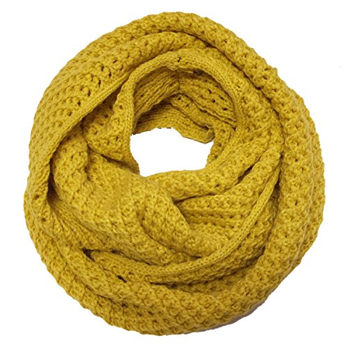 wrapables-soft-knit-warm-infinity-scarf-saffron-yellow