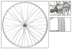 Wheel Master 27 x 1-1/4 Rear Bicycle Wheel, Freewheel, Silver 36H