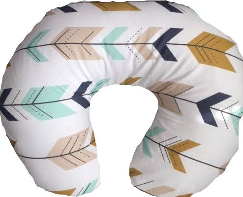 buy Nursing Pillow Cover in Mint, Navy, Gold Arrows for sale