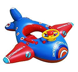 Topwon Babies Kids Swimming Inflatable Boat Swimming Pool Fish Float Jumbo Jet For 1 4 Years Old