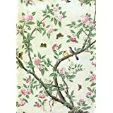 Wallpaper with Flowering Shrubs and Fruit Bees (Print On Demand)