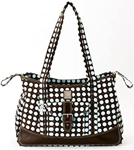 Kalencom Heavenly Dots Week-Ender Bag, Chocolate/Blue