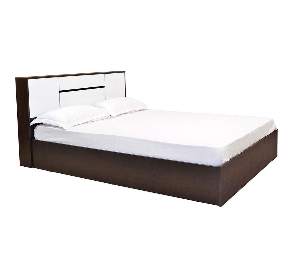 Nilkamal Bedroom Furniture Nilkamal Prince Queen Size Bed Glossy Finish White Amazonin