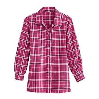 Blair women 39 s plus size super soft flannel shirt at amazon for Ladies soft flannel shirts