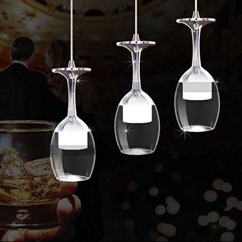 New Led Modern Wineglass Wine Glass Ceiling Light Pendant Lamp Chandelier