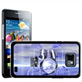 Fancy A Snuggle Funky Reflective Drum Set Futuristic Design Hard Case Clip On Back Cover for Samsung Galaxy S2 i9100