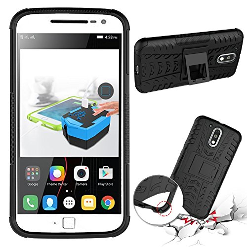 cheaper ce6dd a9a3a Chevron Military Grade Armor Kick Stand Back Cover Case for Moto G4 Plus  4th , Black Buy Chevron Military Grade Armor Kick Stand Back Cover Case for  ...